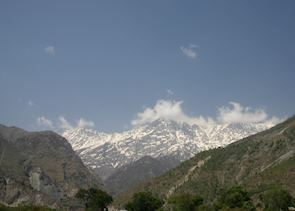 Dhauladhar mountains as seen from Dharamasala