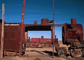 Train graveyard near Uyuni, Bolivia