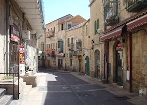 Deserted street during Shabbat in Jerusalem, Israel