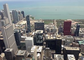 Lake Michigan and Millenium Park, Chicago