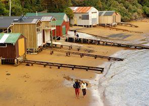 Boat sheds, Stewart Island