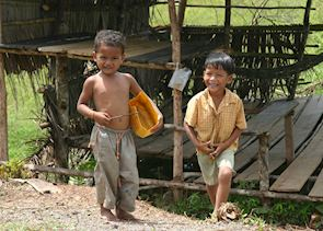 Local children from Sihanoukville, Cambodia