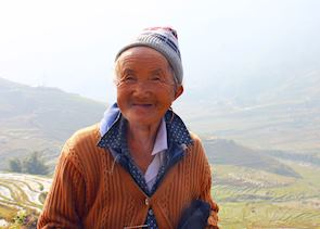 One hundred year-old woman, Sapa Valley, Vietnam