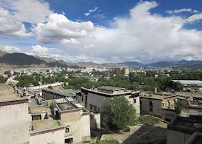 View over Shigatse