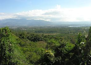 Distant view of San Jose, Costa Rica