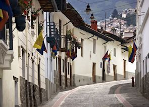 The cobbled streets of Quito's Old Town