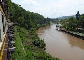 Train journey along the Death Railway, Kanchanaburi