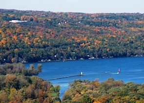 Scenery near Ithaca, Finger Lakes region, New York State