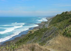 The road to the East Cape, New Zealand
