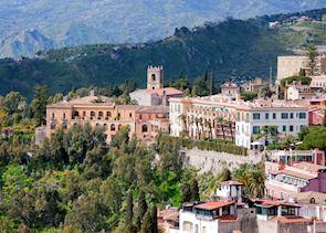 Hilltop town, Taormina