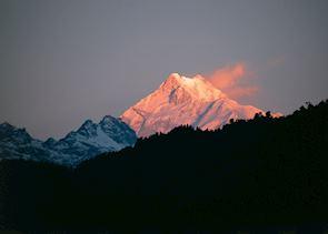 Himalayan sunset, Darjeeling, India