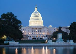 The US Capitol at night, Washington, D.C.