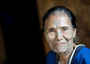 Lady of the Muun tribe, Chin State, Burma (Myanmar)