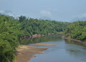 View of River Kwai Noi from Home Phutoey River Kwai Resort