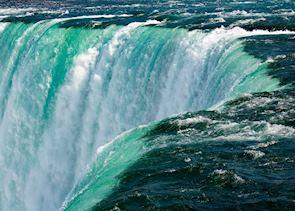 The raging waters of Niagara Falls, Canada