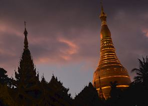 Sunset over Shwedagon, Yangon, Burma (Myanmar)