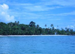 Remote beach off Bastimentos, Bocas del Toro