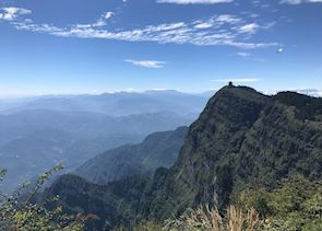 Views from the summit of Emei Shan