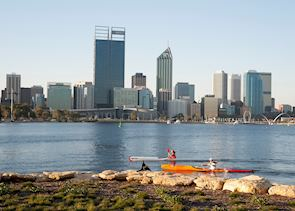 Perth Central Business District, viewed from South Perth