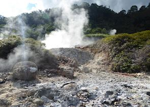 Fumaroles on the banks of Lake Linow, Tomohon