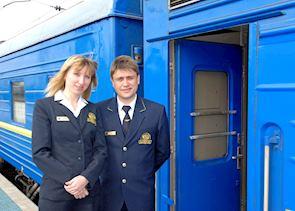 Staff welcoming you on board the GW train