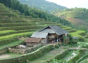 Local traditional home, Hoang Su Phi, Vietnam