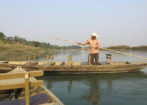 Boat ride in Chitwan National park
