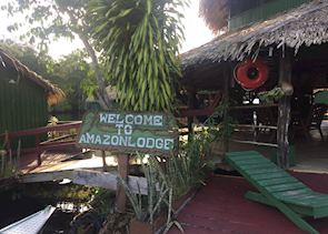 Amazon Lodge entrance