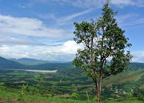 The view looking out over the Mekong, Chiang Khong, Thailand