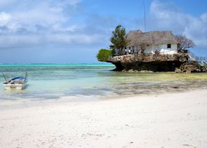 The Rock Restaurant, North of Dongwe beach. Zanzibar