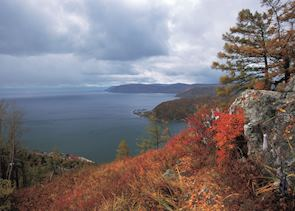 View of Lake Baikal, Listvyanka