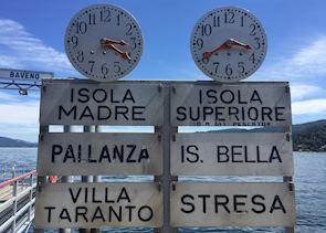 Ferry signs, Lake Maggiore