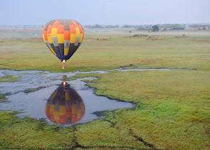 Hot air balloon trip over the Busanga Plains
