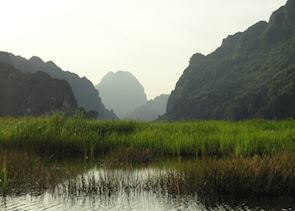 Sunset at Van Long Nature Reserve, Ninh Binh, Vietnam