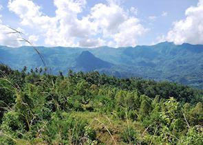 Trekking between villages in Ngada district, Flores