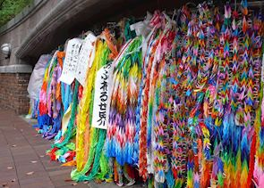 Origami peace cranes, Nagasaki