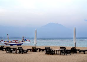 Beach at dusk, Sanur