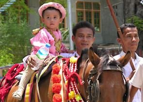 Young novitiate, Amarapura
