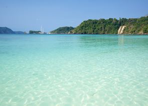 Azure water on the Mergui Archipelago