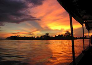 Sunset, Khone Island