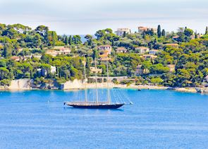Sail Boat in the Harbor, French Riviera