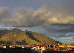 Sunset over Lhasa