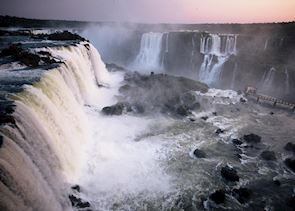 Sunset at Iguazu Falls
