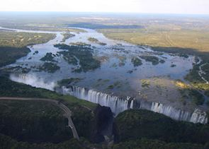 Birdseye view of Victoria Falls