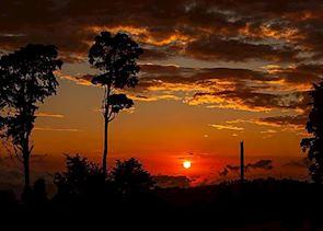 Sunset view from Chayote Lodge, Llano Bonito