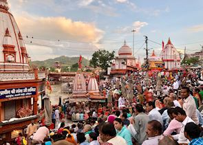 Aarti prayer ceremony Haridwar