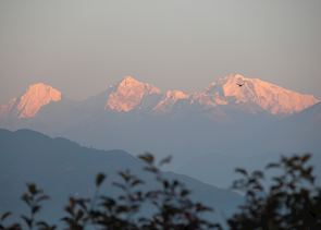 Sunrise over the Himalayas, from Nagarkot