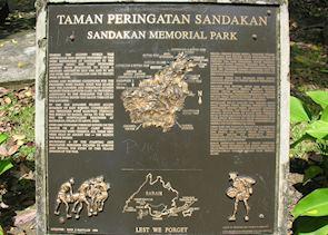 Australian War Memorial Park, Sandakan, Malaysian Borneo