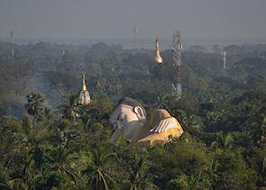 Reclining Buddha, Bago