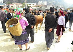Black Hmong at Meo Vac market
